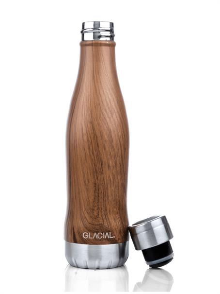 GLACIAL Drinkfles Teak Wood 057
