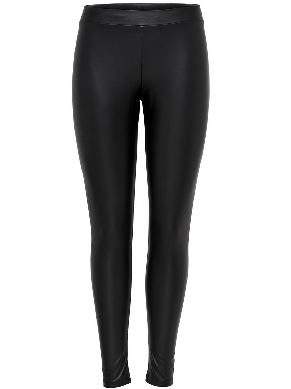 ONLY Leatherlook Legging Dames Zwart