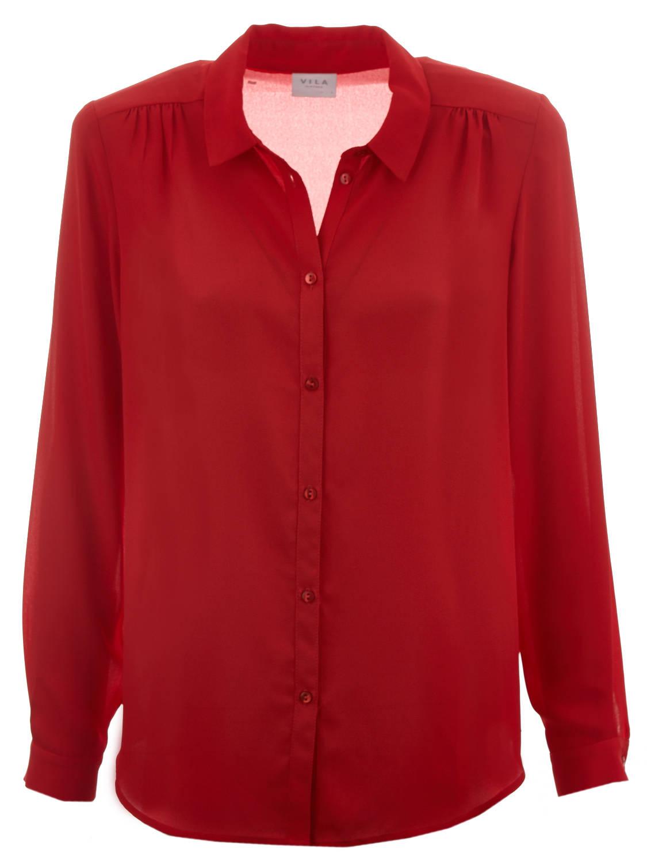 VILA VILA Blouse ViLucy L/S Button Shirt-Fav 14053374